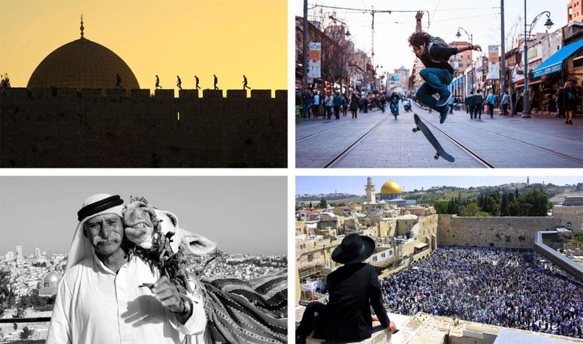 מתוך תערוכת היובל בגבעת התחמושת (צילומים: Avie Estrin, Afif Hanna Amireh, Kobi Bicaci,