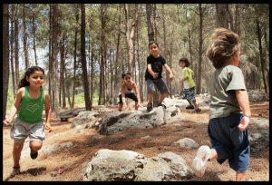 """שבוע הספר ביער בן שמן (צילום: ארכיון הצילומים של קק""""ל)"""
