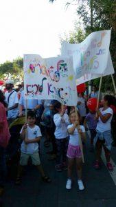 הפגנת הורים ותלמידים בבית הספר לוריא (צילום: אריק בן דיין)