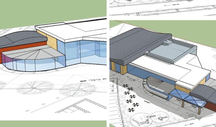הדמיית תוכנית מרכז הספורט בהר חומה )הדמיות באדיבות הוועדה המקומית לתכנון (