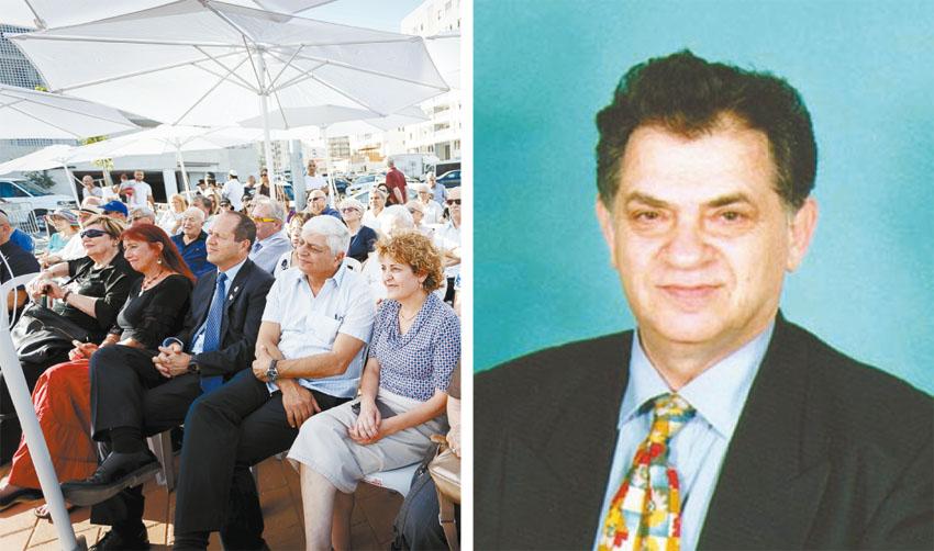 """(משמאל) טקס קריאת הרחוב, עמנואל זיסמן ז""""ל )צילומים אישי, יוני זילברמן("""