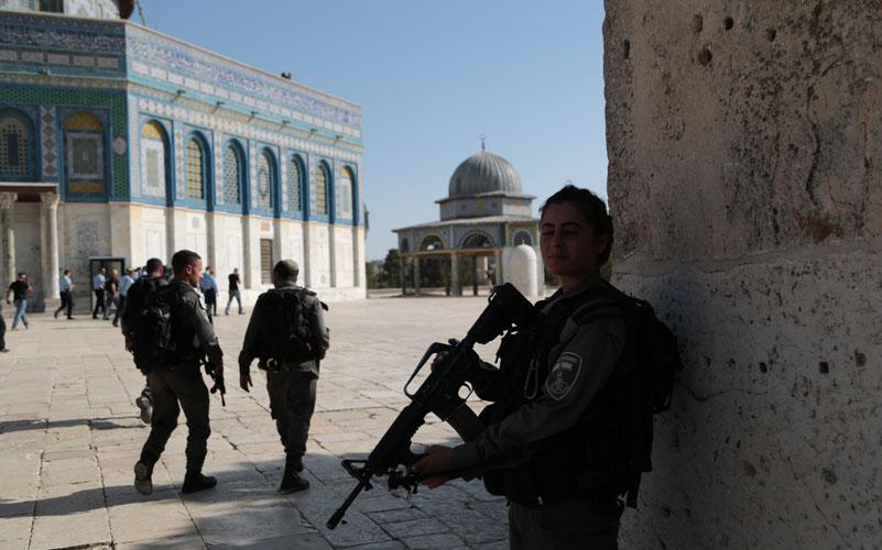 הר הבית, לאחר הפיגוע (צילום: דוברות המשטרה)