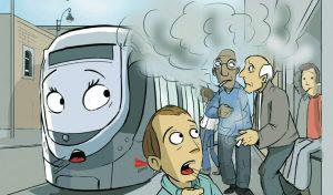 איור עישון ברכבת הקלה (צלום :סיטיפס)