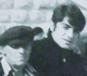 """ברוך בונדק ז""""ל עם בנו ישראל (צילום: מתוך האלבום המשפחתי)"""