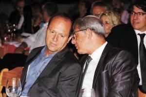 ראש העיר ניר ברקת וסגנו מאיר תורג'מן (צילום: ששון תירם)