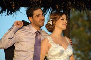 מיכל ואסף אפל ביום החתונה (צילום: סטודיו קליפ)