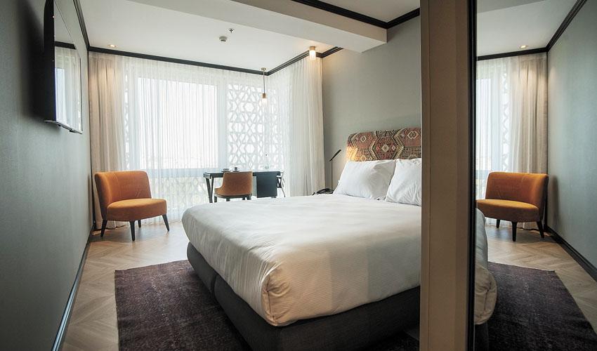 חדר אירוח במלון טריפ ירושלים בת שבע (צילום: אסף פינצ'וק)