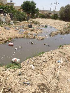 מפגע ביוב במזרח העיר (צילום: שאלאה דהאני)