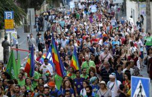 מצעד הגאווה בירושלים 2016 (צילום: אורן בן חקון)