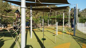 מתקני חבלים - עמק הארזים בפארק ירושלים (צילום