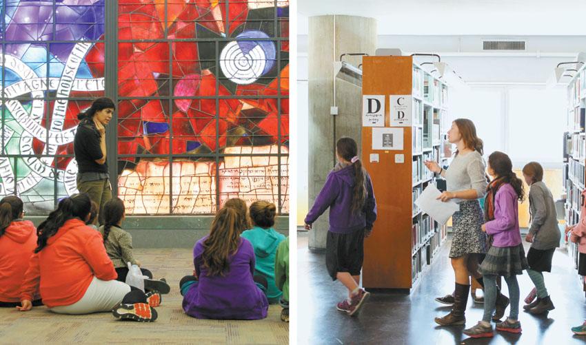 פעילות ילדים בספרייה הלאומית (צילום: חנן כהן)