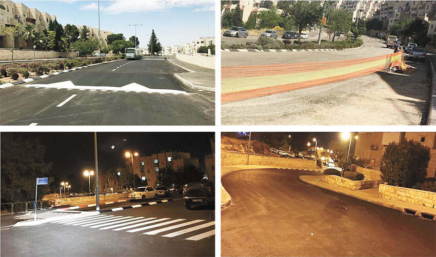 """רחוב צביה יצחק, רחוב החסידה לפני ואחרי (צילומים באדיבות אגף שפ""""ע)"""