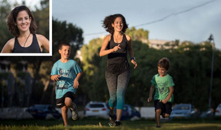 רותי זינדל-אוכמן עם ילדיה אביב ועידו (צילום: פרטי)