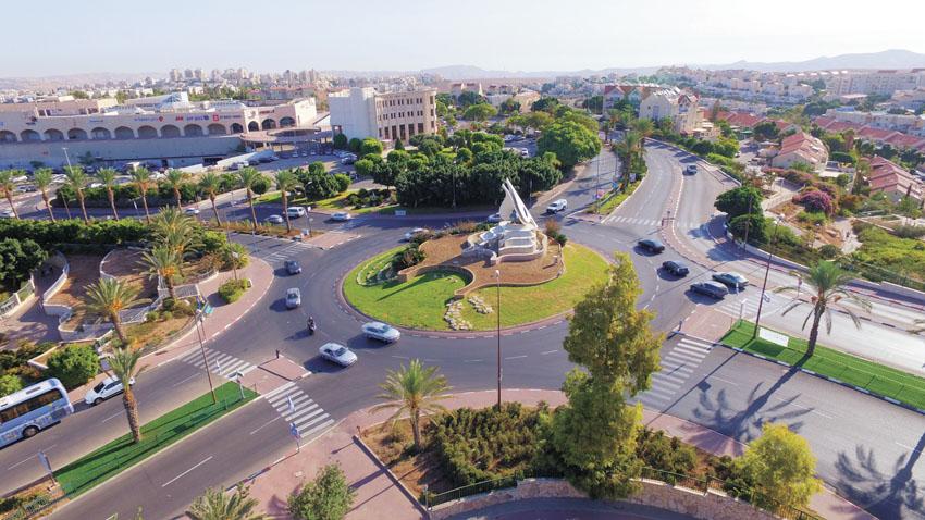 כיכר הנשרים (צילום: עיריית מעלה אדומים)
