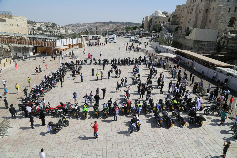 """מסע אופנוענים מרגש למען לוחמי מג""""ב ושוטרי ירושלים (צילום: דוברות המשטרה)"""