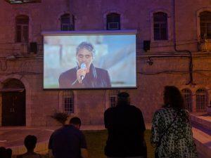 סרטים בחינם בכיכר הירח (צילום: נדב-בן אוד)