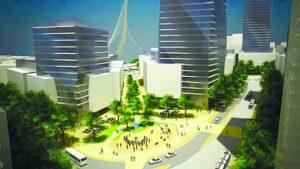 הדמיית פרויקט 'הכניסה לעיר' (הדמיה: פרחי צפריר אדריכלים)