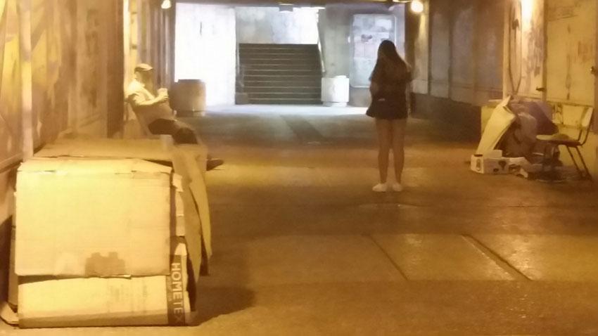 המנהרה שבין התחנה המרכזית לבנייני האומה (צילום: עדי זורע)