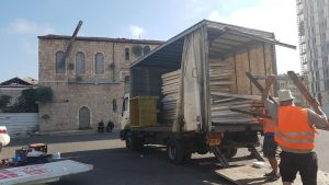 הריסת המחסן בשוק (צילום: עיריית ירושלים)