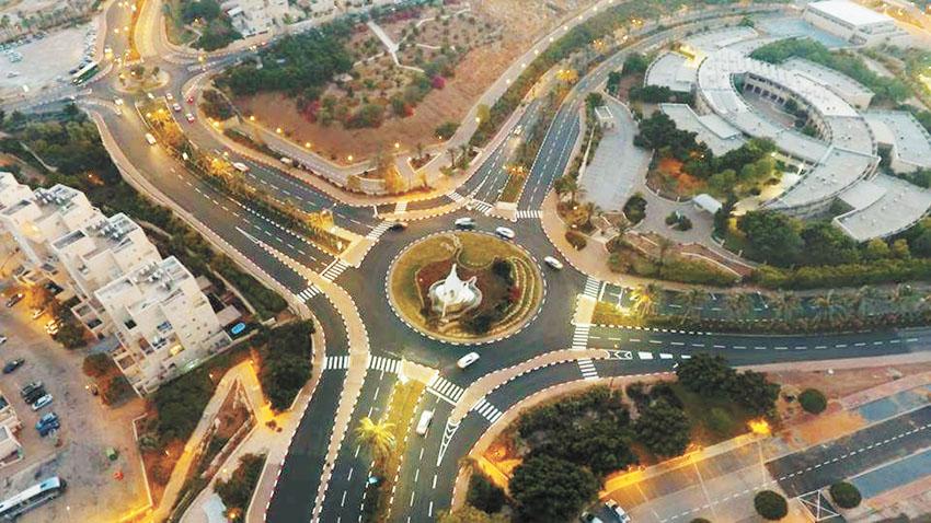 כיכר הנשרים במעלה אדומים (צילום: עיריית מעלה אדומים)