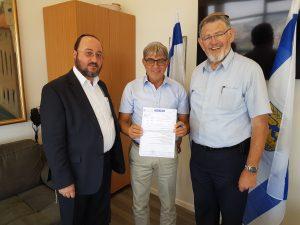 סגן ראש העיר מאיר תורג'מן ונציגי קהילת ירושלים