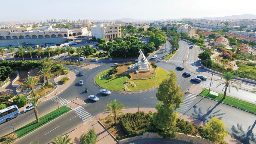 כיכר הנשרים לפני השדרוג (צילום: עיריית מעלה אדומים)
