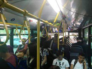 עומסים באוטובוסים (צילום: אלון קאס)