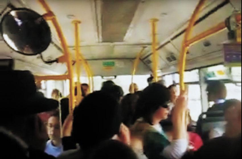 צפיפות באוטובוס