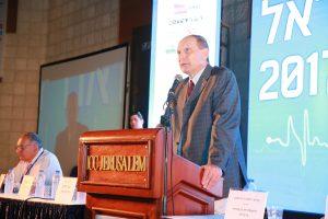 פרופ' ליאוניד אידלמן, ועידת ישראל לרפואה (צילום: ארנון בוסאני)