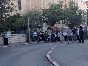 הפגנות חרדים ברחוב הנביאים (צילום: נדב-בן אוד)