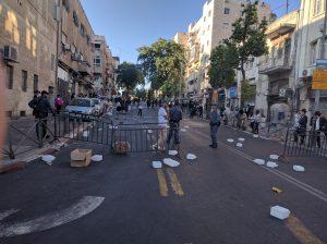 הרחוב החרדי ממנו יוצאים ל'הפגנות השבת' (צילום: נדב-בן אוד)