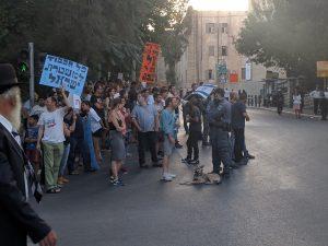 הפגנת החילונים ברחוב הנביאים (צילום: נדב-בן אוד)