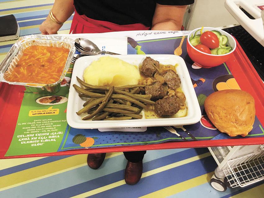 אוכל בריא בהדסה (צילום: דוברות הדסה)