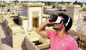 מציאות מדומה באתרי הכותל המערבי (צילום: אדיבות הקרן למורשת הכותל המערבי)