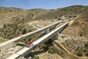 גשרים בתוואי הרכבת (צילום: באדיבות רכבת ישראל)