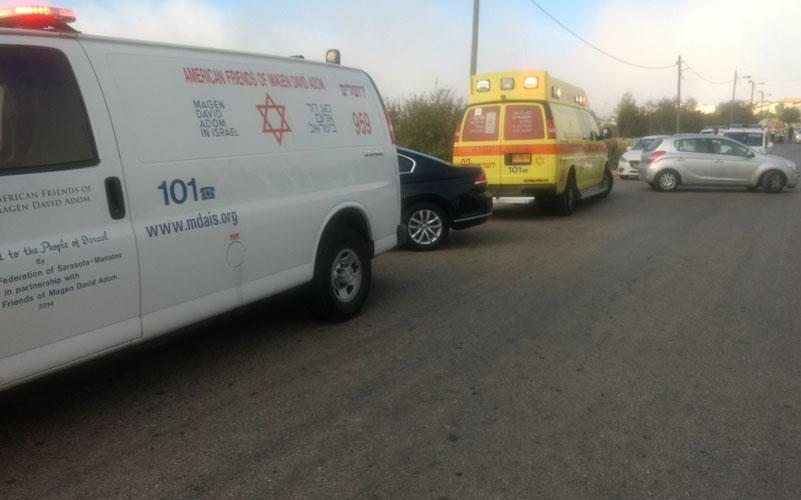 """זירת הפיגוע בהר אדר (צילום: תיעוד מבצעי מד""""א)"""