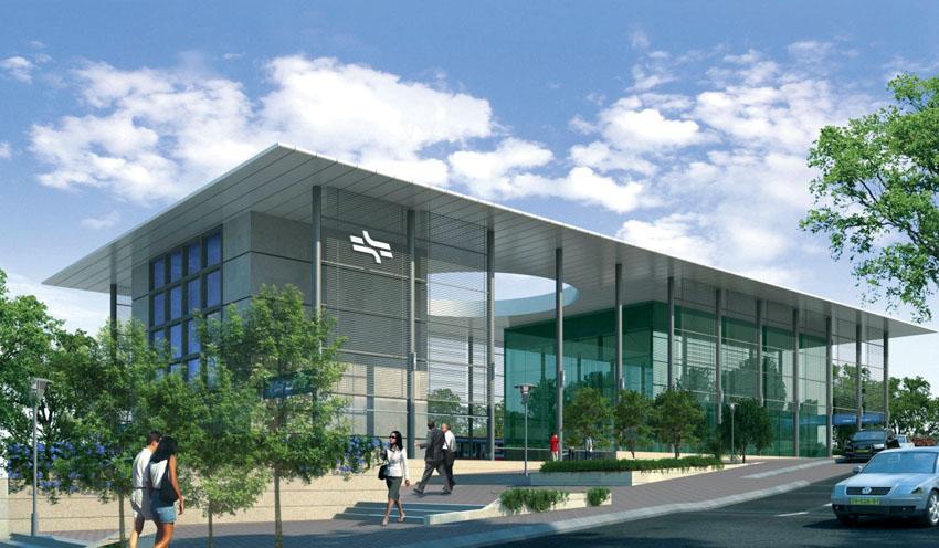 הדמיה תחנת הרכבת החדשה (צילום: באדיבות רכבת ישראל)