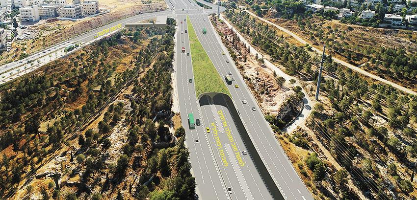 הדמיית המנהרה שתחבר בין מעלה אדומים לגבעה הצרפתית