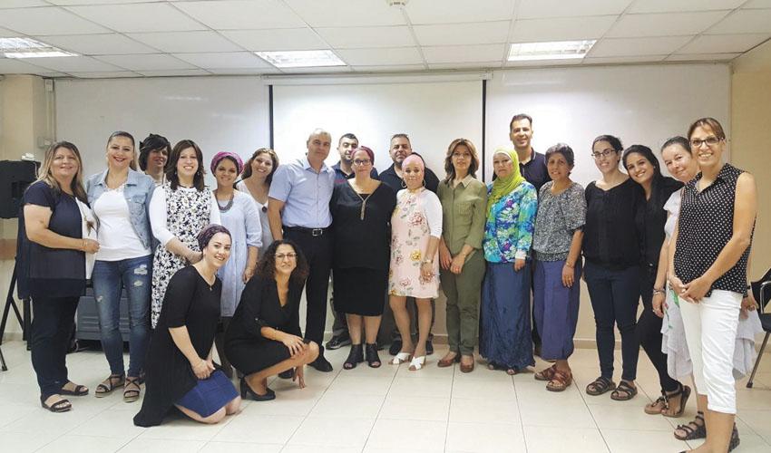 עובדי התיאום למטופלים אונוקלוגיים בכללית (צילום: דוברות כללית מחוז ירושלים)