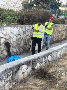טיפול בשטחים הפתוחים בירושלים (צילום: אגף אכיפה ופיקוח)