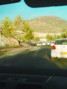 הפקק בהר חומה (צילום: ענבר כהן)