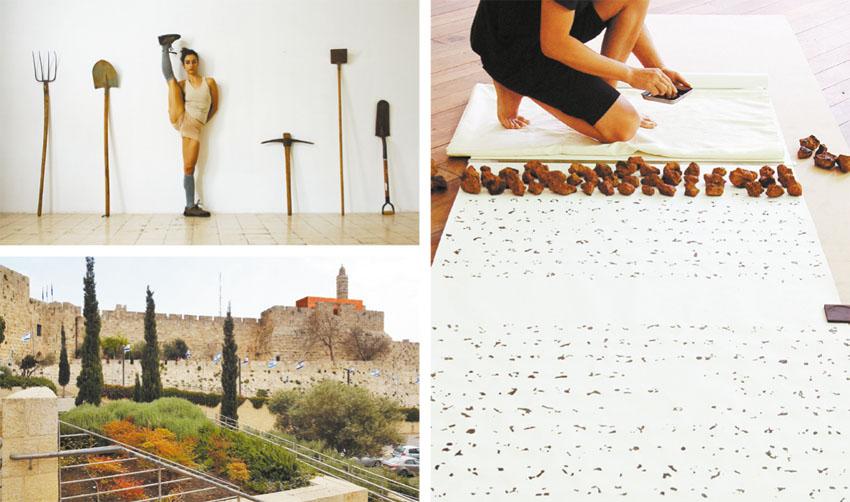 יצירות שיוצגו בביאנלה לאמנות יהודית עכשווית (צילומים: הילה בן ארי, Avner Sher, אודרי קו)