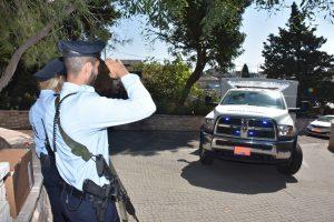 """הלויית השוטר רס""""מ יוסף חלבי (צילום: דוברות המשטרה)"""