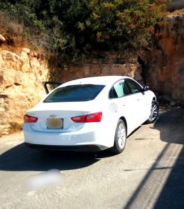הרכב הגנוב (צילום: דוברות המשטרה)