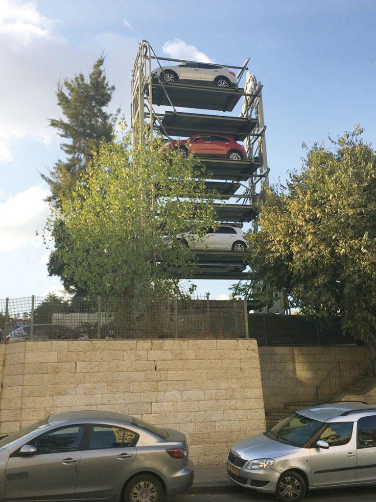 גלגל החניה האוטומטי במרכז העיר (צילום: באדיבות עדן החברה לפיתוח ירושלים)