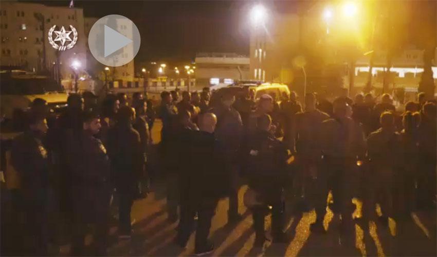 מבצע משטרתי בעיסאוויה (צילום: דוברות המשטרה)