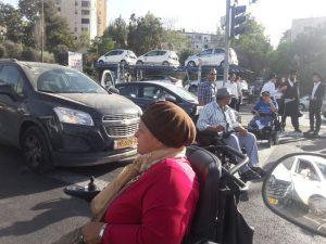 מחאת נכים יום שני 2.10.17 (צילום: דוד מזרחי)
