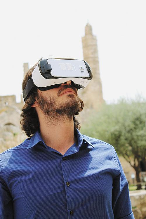 מציאות מדומה במגדל דוד (צילום: ריקי רחמן)