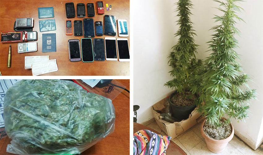 סמים טלגראס (צילומים: דוברות המשטרה)