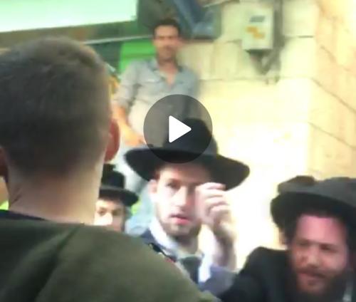 וידאו – השוק, שבת בצהריים: חרדים הפגינו מול אירוע שומר שבת